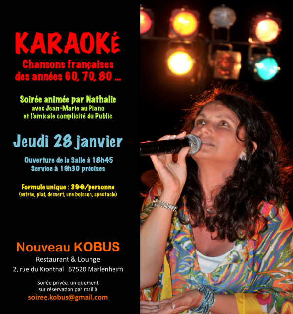 01 06 soire e karaoke au kobus le 28 janvier 2016