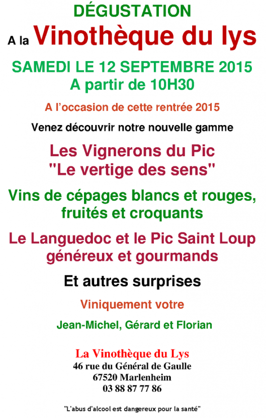 08 31 degustation vinotheque du lys
