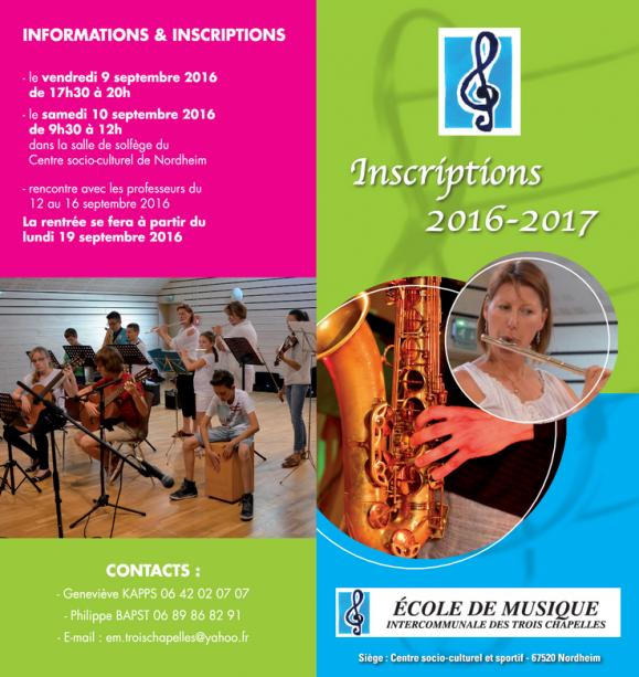 2016 08 09 inscriptions ecole musique 2016 2017