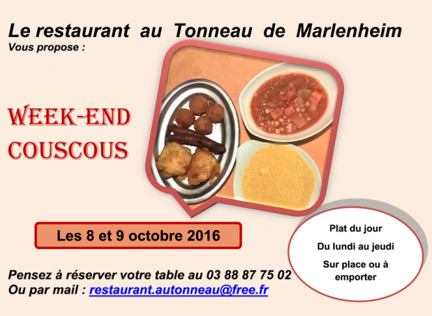 2016 09 30 restaurant au tonneau week end couscous