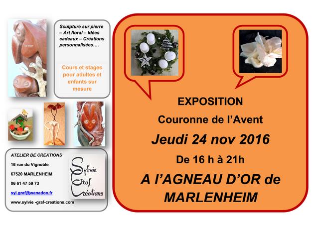 2016 11 08 exposition sylvie graf creations agneau d or marlenheim