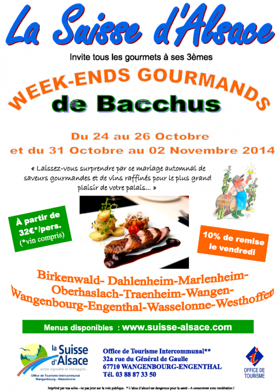 Affiche week ends gourmands de bacchus