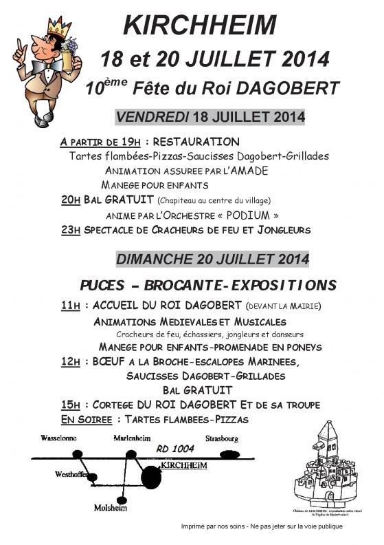 Publicite formata3 kirchheim fete dagobert 2014