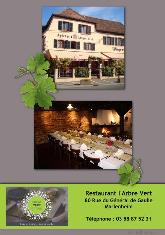 Restaurant l arbre vert marlenheim