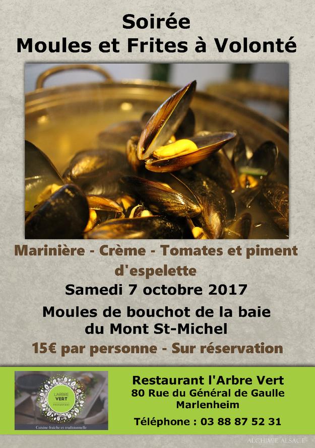 2017 09 25 moules a volonte restaurant l arbre vert marlenheim