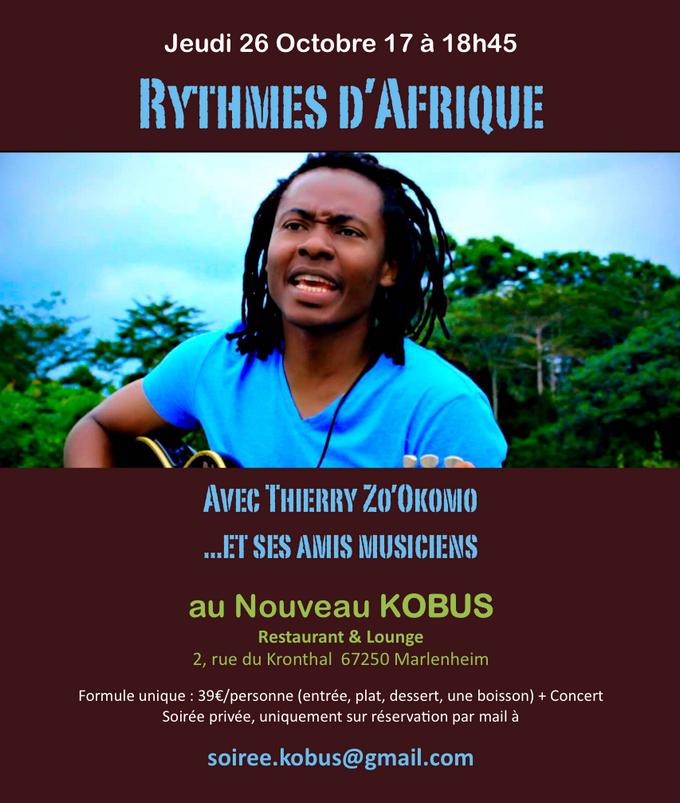 2017 10 10 soiree rythmes d afrique au restaurant kobus