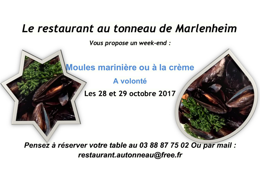 2017 10 18 restaurant au tonneau week end moules a volonte marlenheim