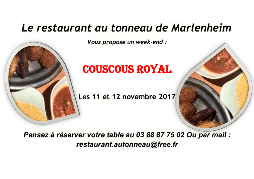 2017 10 26 restaurant au tonneau week end couscous marlenheim