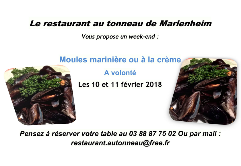 2018 01 15 restaurant au tonneau week end moules a volonte