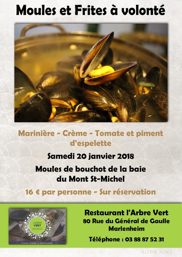 2018 01 16 moules a volonte restaurant l arbre vert a marlenheim