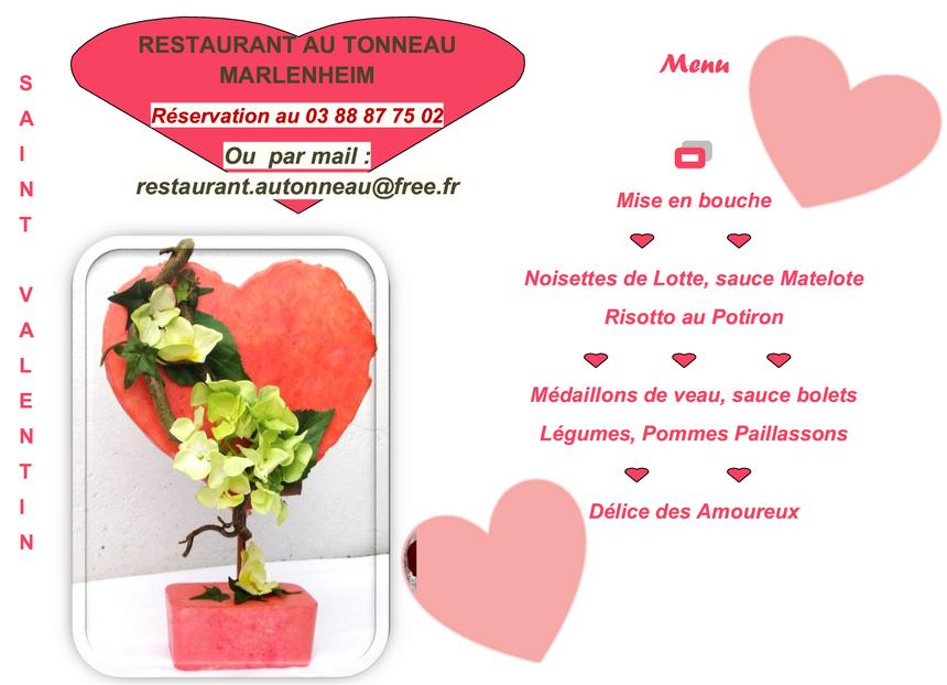 2018 02 13 restaurant au tonneau menu de la st valentin