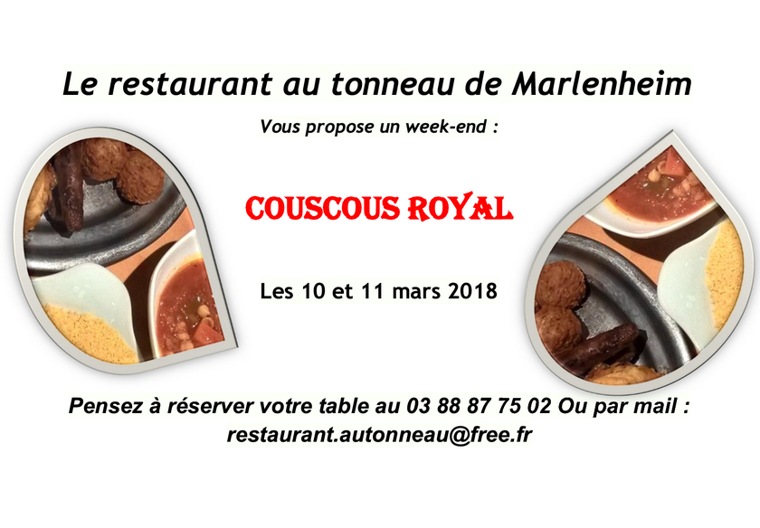 2018 02 26 week end couscous restaurant au tonneau marlenheim