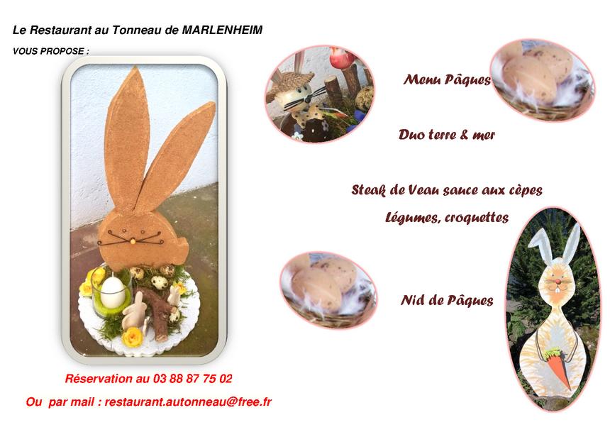 2018 03 20 menu paques 2018 restaurant au tonneau marlenheim