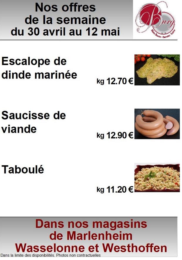 2018 04 30 boucherie burg offres speciales de la semaine