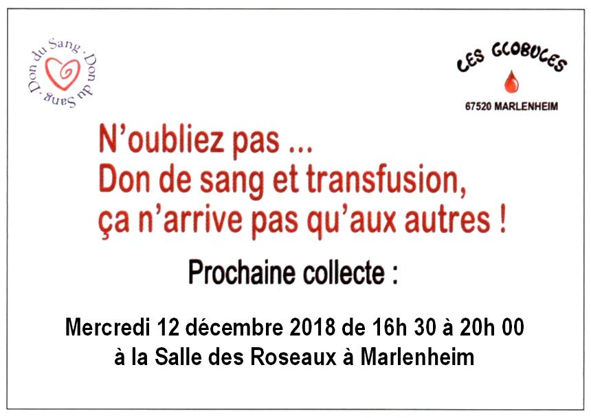 2018 10 29 don du sang decembre 2018 les globules de marlenheim