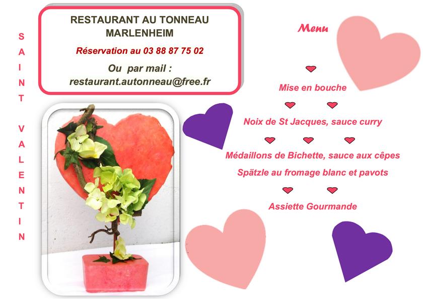 2019 02 07 restaurant au tonneau menu de la st valentin 2019
