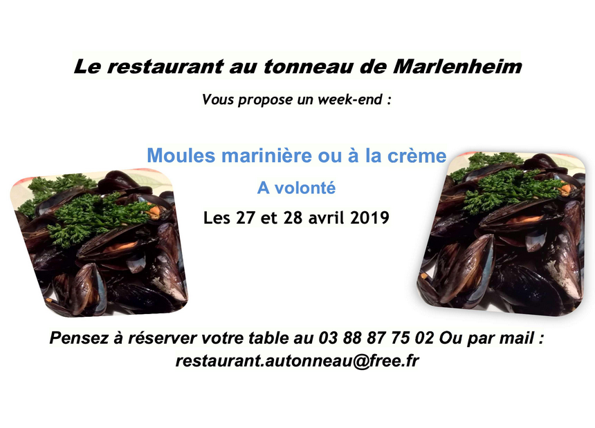 2019 03 08 restaurant au tonneau week end moules avril 2019