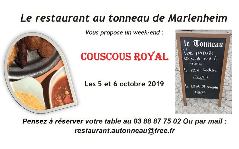 2019 09 27 restaurant au tonneau week end couscous a marlenheim
