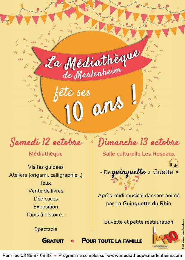 2019 10 03 la mediatheque de marlenheim fete ses 10 ans