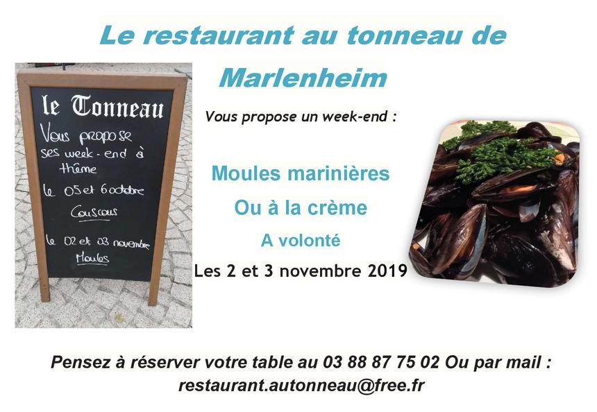 2019 10 11 restaurant au tonneau week end moules 2019