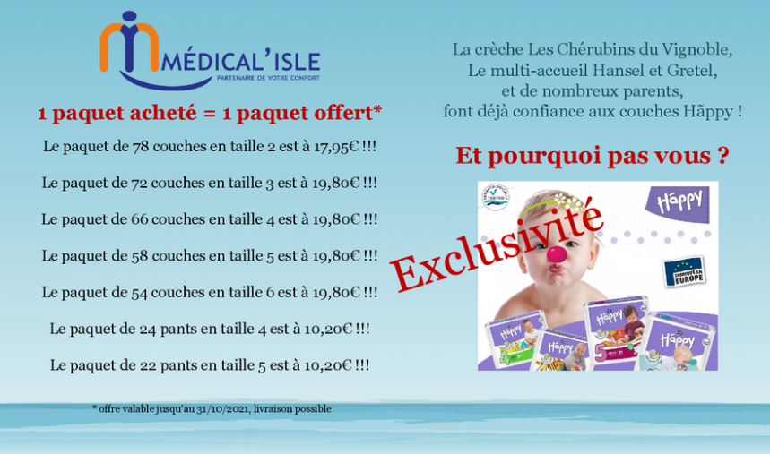 2021 10 31 medical isle offres speciales couches bebes octobre 2021 a marlenheim