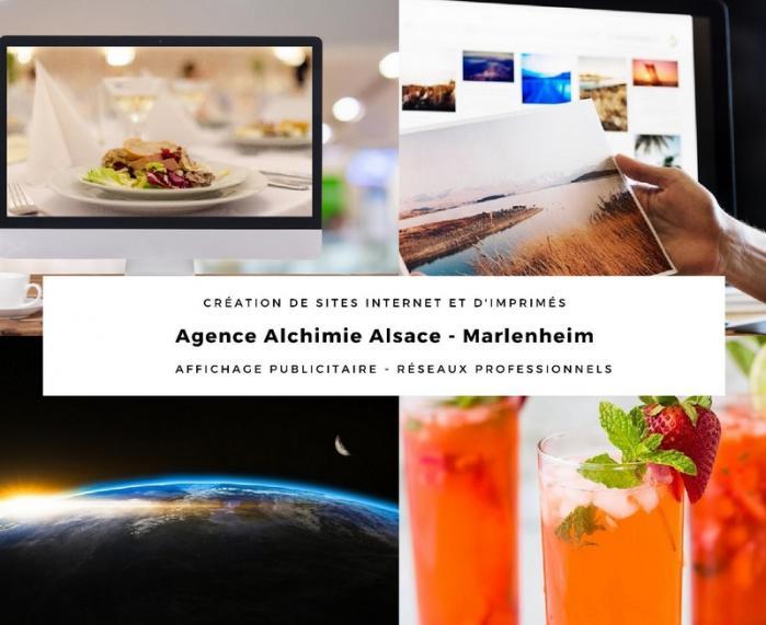 Agence alchimie alsace communication web et print carte