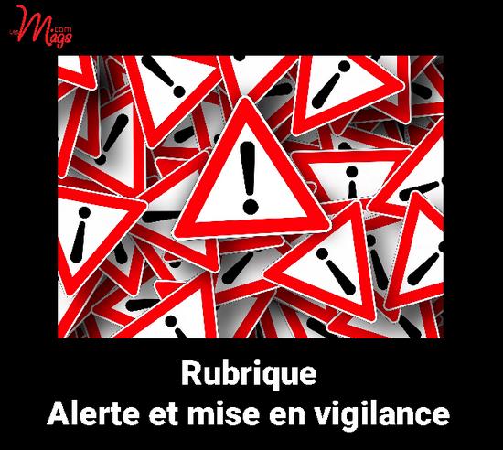 Rubrique Alerte : pour publier une alerte, cliquez ici