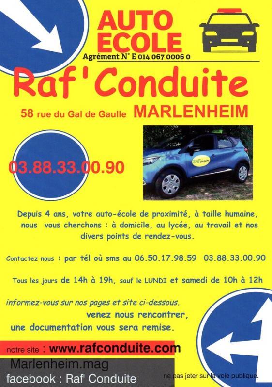 Auto ecole raf conduite marlenheim