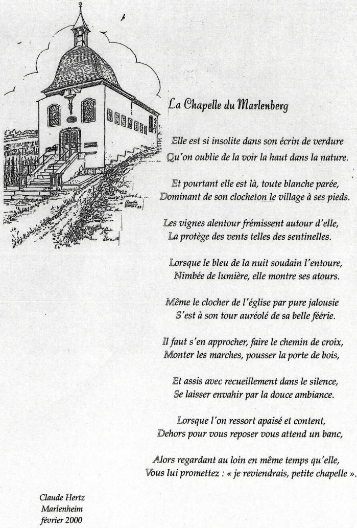 La chapelle du marlenberg de claude hertz