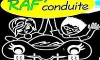 Logo auto école raf conduite
